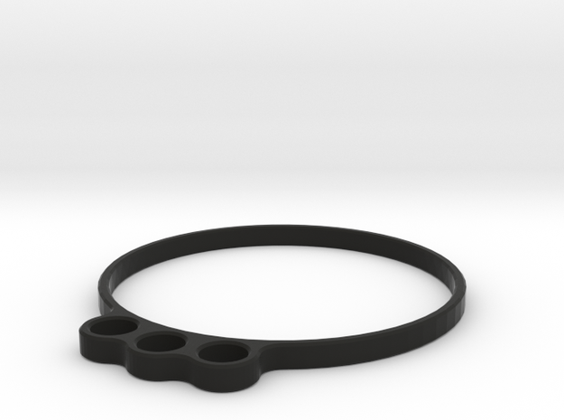 2650 - Wire routing sleeve, 3-wire w/ring (B64) in Black Natural Versatile Plastic