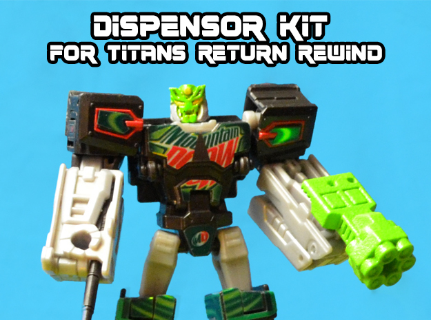 Dewbot/Dispensor 2-Pack for Titans Return Rewind in White Strong & Flexible
