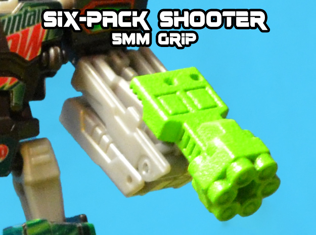 6-Pack Shooter, 5mm in White Strong & Flexible