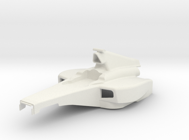KMD-FR01 Open Wheel Racer Main Body in White Natural Versatile Plastic