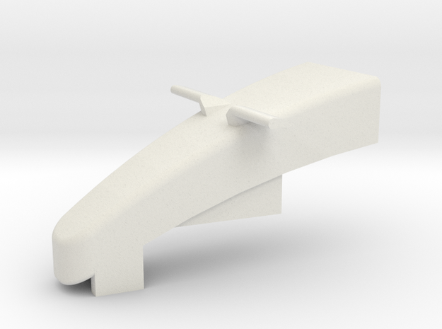 KMD-FR01 Front Nose in White Natural Versatile Plastic