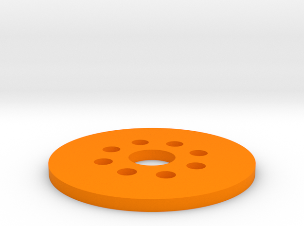 Bussard Dome Assembly - 1:650 - For DLM Parts - 02 in Orange Strong & Flexible Polished