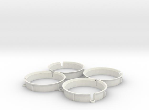 Duct For Shuriken in White Natural Versatile Plastic