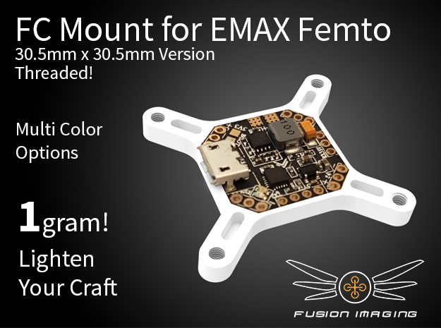 Femto FC 30.5x30.5mm Mount / Transfer Plate in White Strong & Flexible