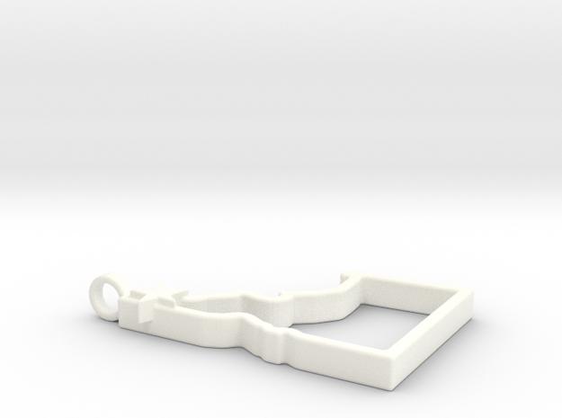 North Idaho Home Pendant in White Processed Versatile Plastic