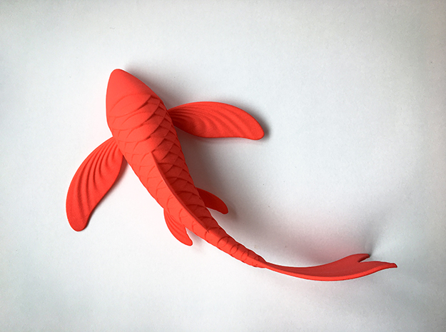 Koi sculpture in Red Strong & Flexible Polished