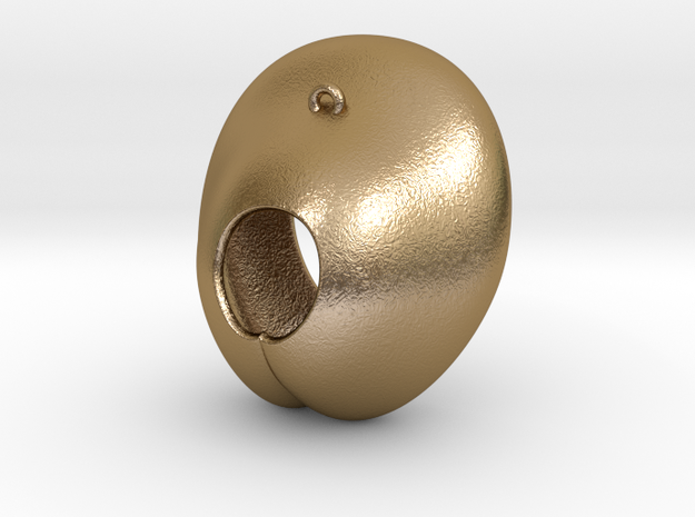 Electrode Customized 01 in Polished Gold Steel
