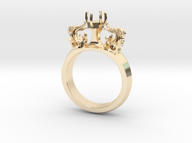 Ring Venetian Dragons in 14k Gold Plated Brass