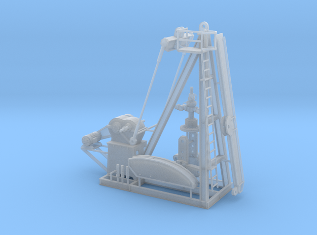1/64th Large oil well Pump Jack wellhead in Smooth Fine Detail Plastic
