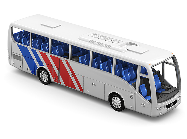 Volvo 9700 bus in Z scale 1:220 in Smoothest Fine Detail Plastic