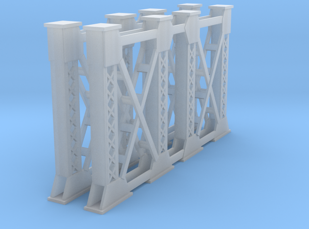 Two Steel Bridge Supports N Scale