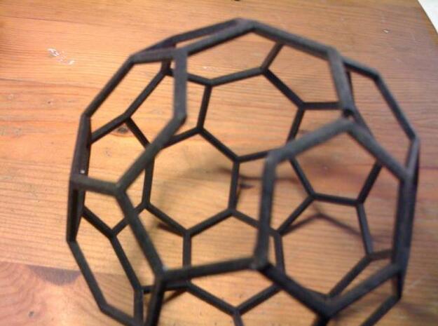 """Carbon Buckyball (C60) 3d printed Buckyball with broken """"bond""""."""