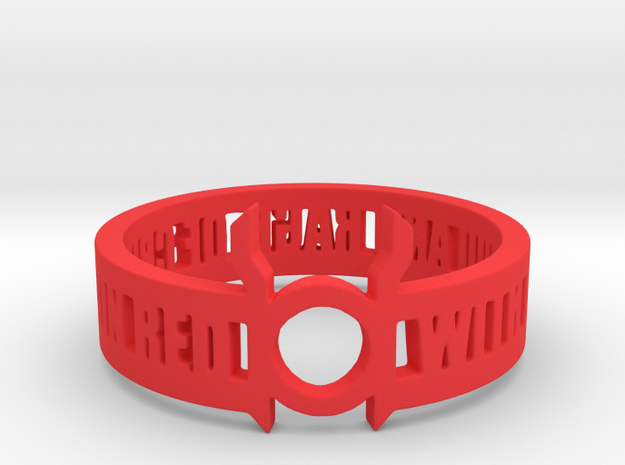 Red Lantern Oath Ring Size 12.25 in Red Processed Versatile Plastic: 12.25 / 67.125