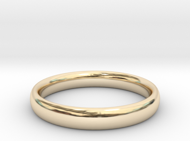 """Ring """"Ellipse"""" in 14k Gold Plated: 6 / 51.5"""