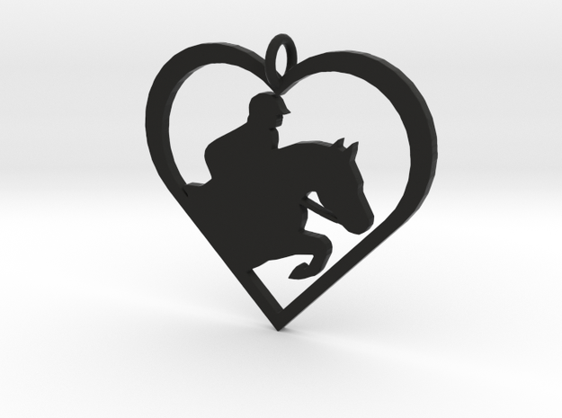Jumping Horse in Black Natural Versatile Plastic