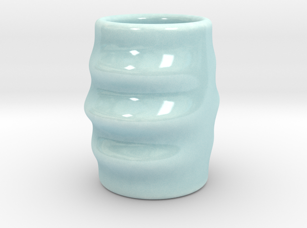 DRAW shot glass - dizzy dan in Gloss Celadon Green Porcelain