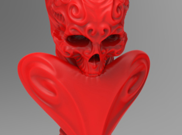 """""""BeMine"""" Valentine Flower Vase  3d printed (as the piece may appear in Coral Red Strong & Flexible)"""