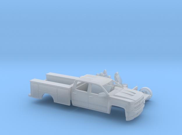 1/87 2016/17 Chevrolet Silverado Crew/Utility Kit in Smooth Fine Detail Plastic
