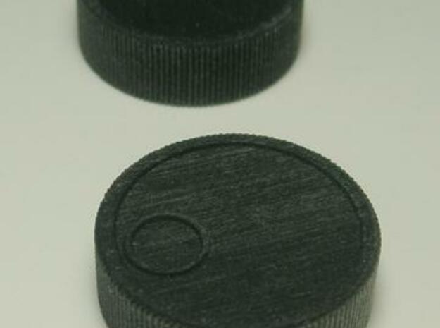 """Arkanoid Spinner 1/4"""" 3d printed Black detail"""