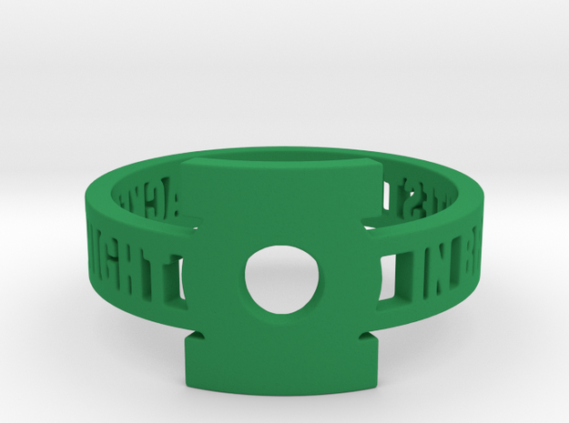 Green Lantern Oath Ring in Green Strong & Flexible Polished: 12.25 / 67.125