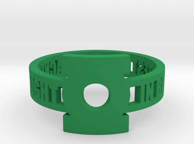 Green Lantern Oath Ring in Green Processed Versatile Plastic: 12.25 / 67.125