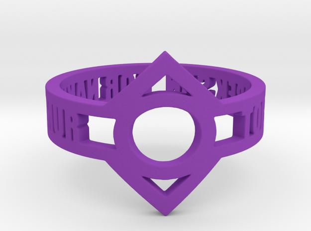 Indigo Lantern (Indigo Tribe) Oath Ring in Purple Strong & Flexible Polished: 12.25 / 67.125