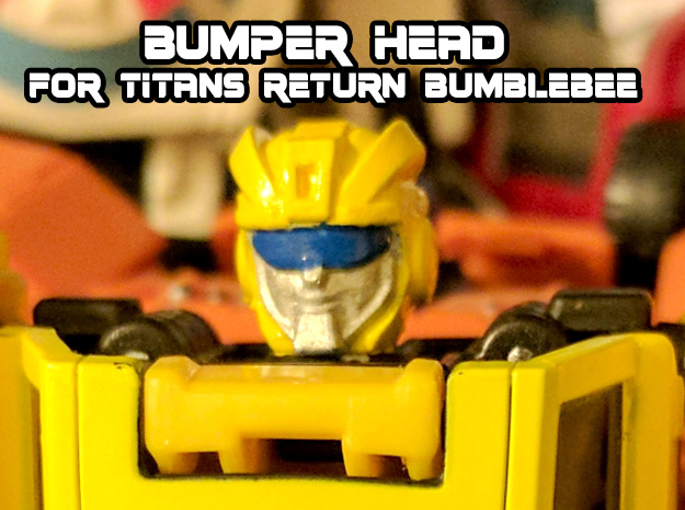 Bumper Head for Titans Returns Bumblebee in Black Hi-Def Acrylate