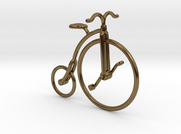 Vintage Bicycle in Polished Bronze