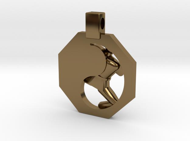 Pendant - Mens Yeop Chagi in Polished Bronze
