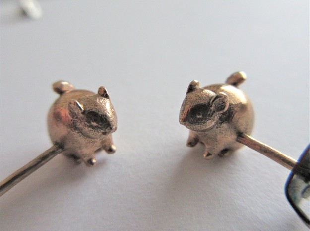 Chinchilla Earrings in Raw Bronze