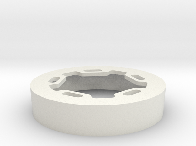 ProLine RC Brawler Wheels Beadlock Ring Star in White Natural Versatile Plastic