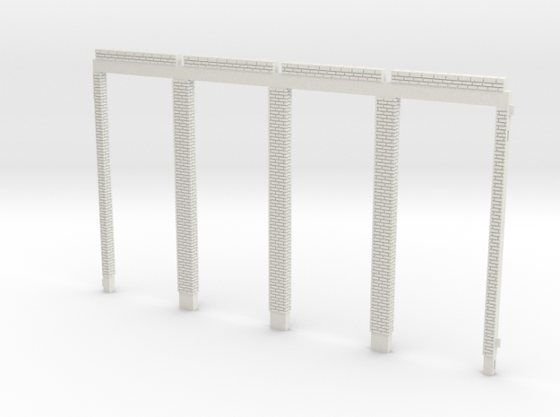 NGG-Ref01a - Large Railway Station in White Natural Versatile Plastic