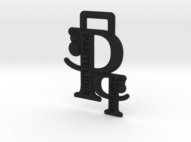 Creator Keychain in Black Natural Versatile Plastic