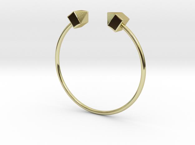 2 Houses Bracelet Medium Size D=65mm in 18k Gold Plated: Medium