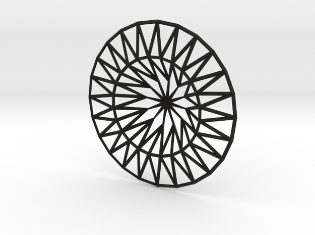 Low Poly Sink Strainer in Black Strong & Flexible