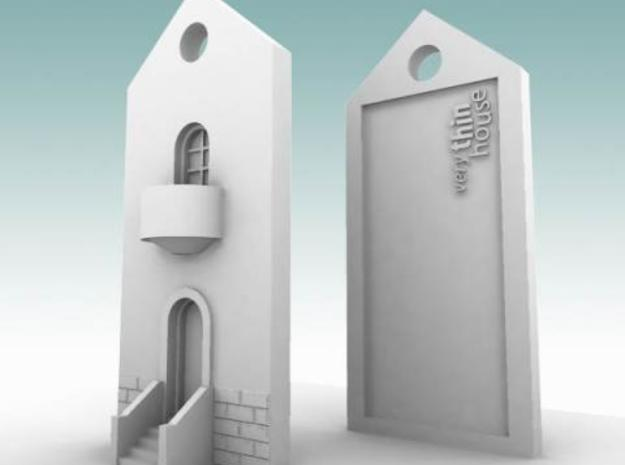 very thin house 3d printed Description