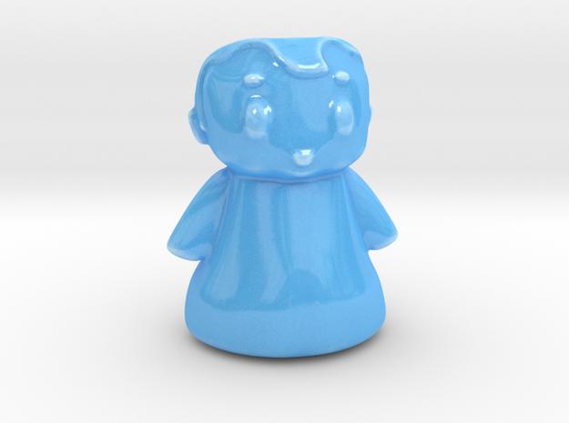 Topknot in Gloss Blue Porcelain