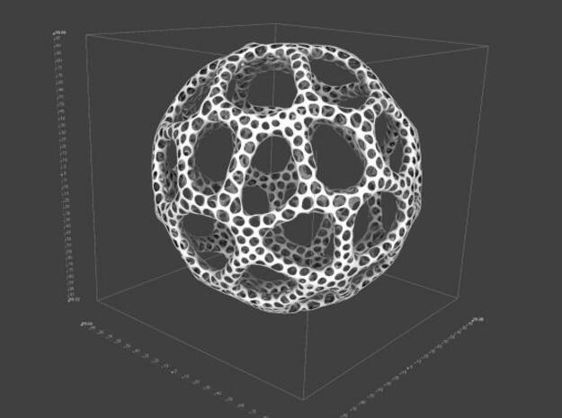Voronoi Sphere 100mm 3d printed Description
