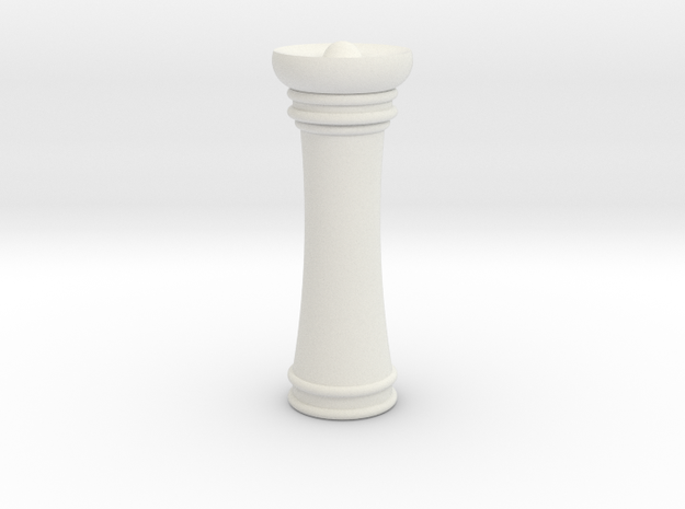 Courier chess queen in White Strong & Flexible