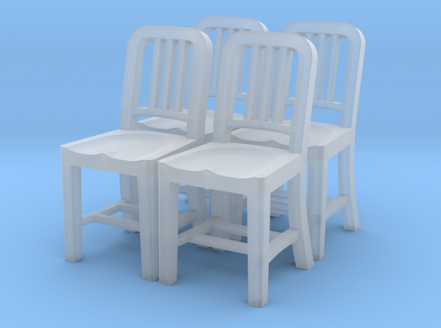 1:48 Metal Chair (Set of 4) in Frosted Ultra Detail