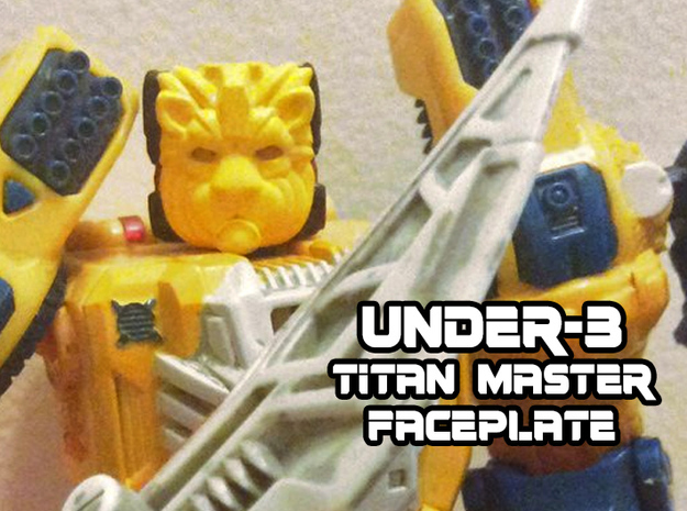 Under-3 face (Titans Return) in Yellow Strong & Flexible Polished