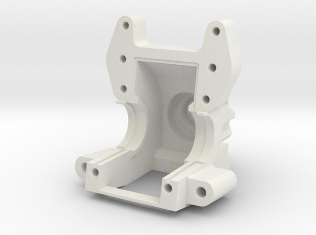 AXIAL YETI / EXO Bulkhead V4 in White Natural Versatile Plastic