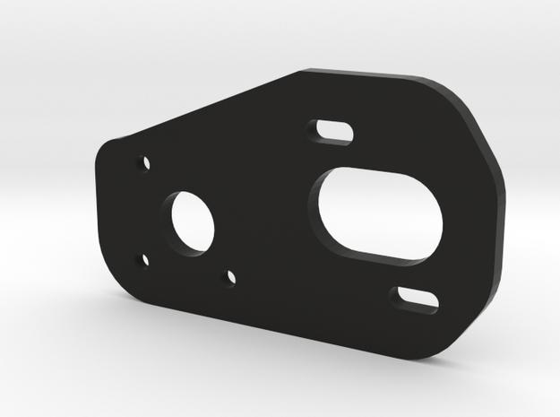 V2 3 Gear Laydown Motor Plate in Black Natural Versatile Plastic