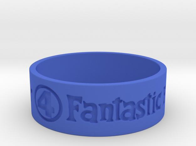 Fantastic Four Title Engraved Size 12 in Blue Processed Versatile Plastic: 12 / 66.5