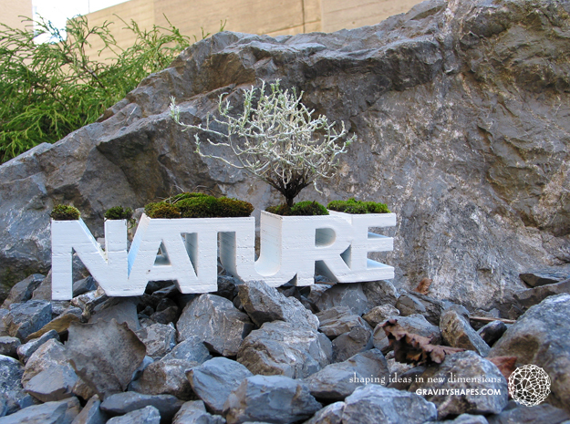 NATURE Planter V1.1. (14 cm or 19 cm) in White Strong & Flexible: Small