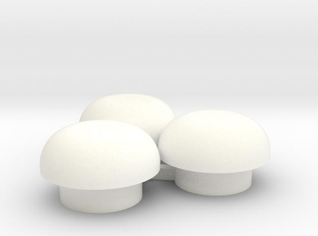 "1/64 Bin Roof Vent - ""mushroom"" style in White Processed Versatile Plastic"