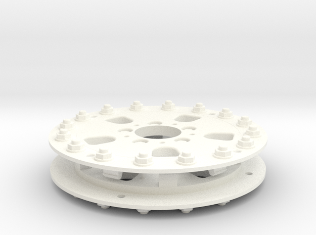 1/10 RC Car Wheel Hutchinson Caps v.2 in White Processed Versatile Plastic