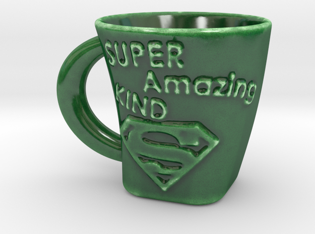 Father´s Day Gift -SuperDad Cup in Gloss Oribe Green Porcelain