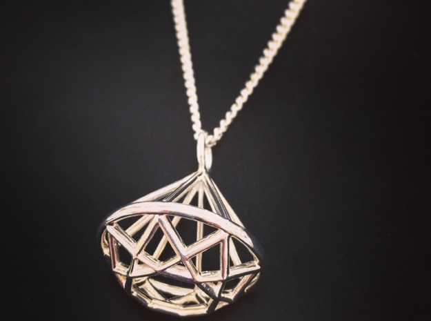 Diamond Wire Pendant in Premium Silver