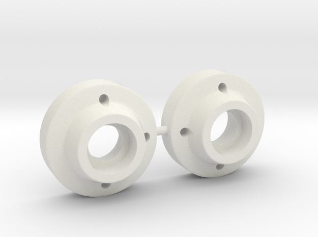 SRB Bearing Carriers in White Natural Versatile Plastic